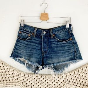 Levi's 501 Cutoff Button Fly Jean Shorts